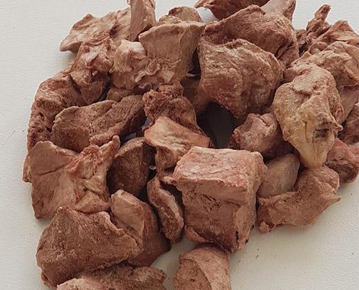 Freeze Dried Raw Diced Lamb Hearts 3
